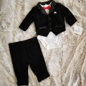 Little Me Baby Boys 3-Piece Tuxedo Suit Set